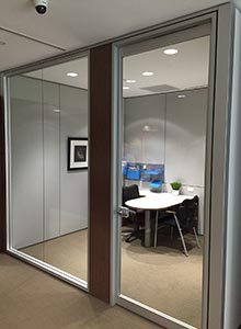 glass office at fresenius